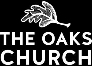 the oaks black back white letters